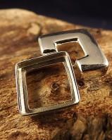 Square Design Silver Pendant For 12mm Stone