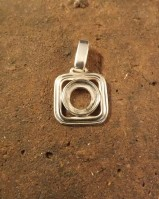 Silver Cabochon Setting for 10mm Stone