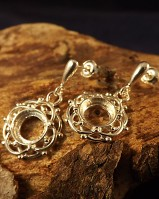 Silver Drop Earring To Fit 8mm Cab