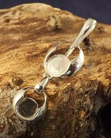 Silver Pendant To Take 10mm And 8mm Stone