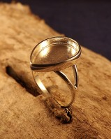 Ring Mount For Teardrop 12X17 Stone Or Resin