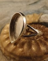 Ring Bezel For Teardrop 12X17 Stone Or Resin