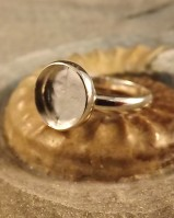 Silver Ring Setting With Bezel For 10mm Stone Or Resin