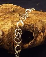 Celtic Style Silver Bracelet For 10x8 Cabochons