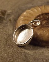 Oval 10x12 Solid Back Pendant Setting Perfect For Resin