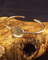 Bangle With Solid Back Perfect For Resin (for 18x13,25x18 Cabs)