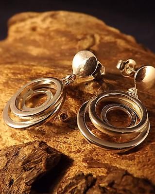 Fancy Round Drop Earrings For 8mm Stones