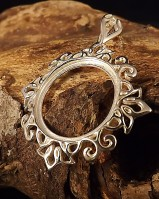 Large Round Silver Mount To Fit 23mm Stone