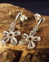 Silver Fillagree Style Drops For 4mm Stone