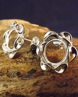 SilverTwist Edge Stud Earring To Fit 10mm Cabochon