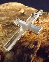 Silver Open Cross Perfect For Resin Work