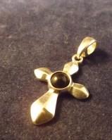 Onyx set silver cross