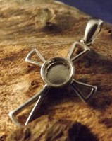 silver cross for 6mm