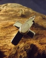 silver cross with mother of pearl