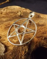Silver Pentagram Pendant Setting For 8mm Cabochon
