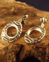 Silver Drop Earrings To Fit 10mm Stone
