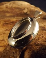 Locket For Marquise Stone Or Resin Approx 17x9