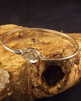 Silver Bangle For 10mm Cabochon