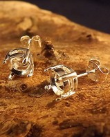 Silver Stud Earrings To Fit 6mm Facetted Stone