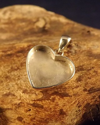 Solid Back Heart Pendant For Ashes Memorial