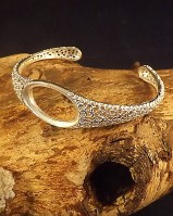 Heavy Filigree Style Bangle Setting for approx 25x15