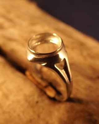 Silver Ring Setting For 8mm Stone
