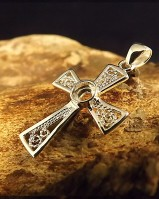 Silver Fillagree Cross To Set 4mm Stones