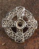Silver Celtic Brooch Ready For Setting A 6mm Stone