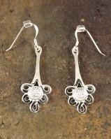 Silver Drop Earrings Mounts For 5mm Cabochons