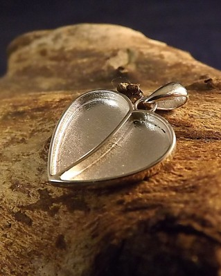 Silver Heart Memorial Pendant Setting For Resin