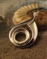 Silver Pendant Bezel To Fit 10mm Cabochon