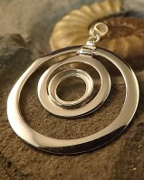 Large Double Circle Pendant mount To Fit 10mm gemstone