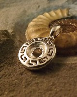 Greek Style Silver Pendant Bezel For 8mm Stone