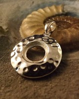 Stunning Round Silver Pendant For 10mm