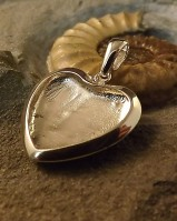 Large Solid Back Heart Pendant Perfect For Resin