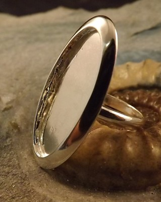 Large Solid Back Oval Ring Mount For Resin