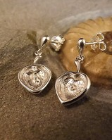 Solid Back Heart Drop Earrings Great With Resin