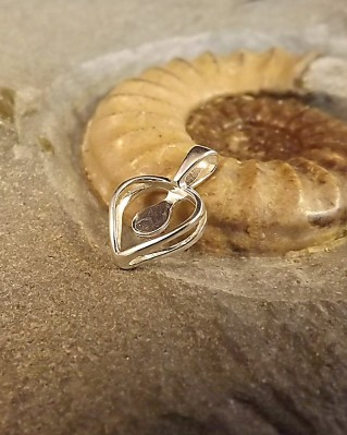 Simple Heart Pendant For 5mm Cabochon