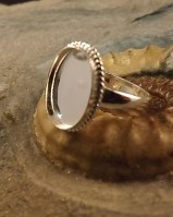 Solid Back Rope Ring Bezel Approx 14x10 Resin Or Cabs