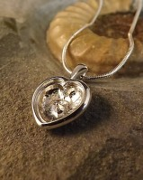 Silver Heart Pendant With Chain Great For Resin
