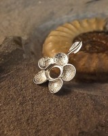 Silver Flower Pendant For 6mm