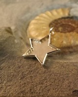 Solid Back Silver Star Pendant Setting Perfect For Resin