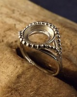 Ring Silver To Fit 10mm Cabochon
