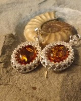 LARGE DROPS WITH AMBER AND CZ