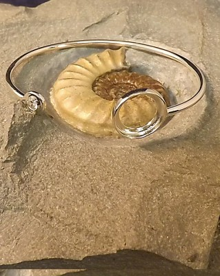 Bangle With Bezel Setting For Approx 14.5mm Stone