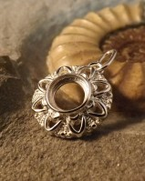 Round Silver Pendant For 8mm