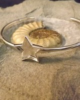 Silver Bangle With Star Setting Suitable for Resin