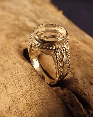 Silver Ring Finding For Setting For 10x8 Stone