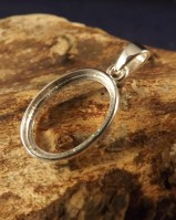 Double Sided Silver Pendant Bezel For Two Stones