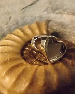 Heart Charm Setting For Bangle Suitable for Resin